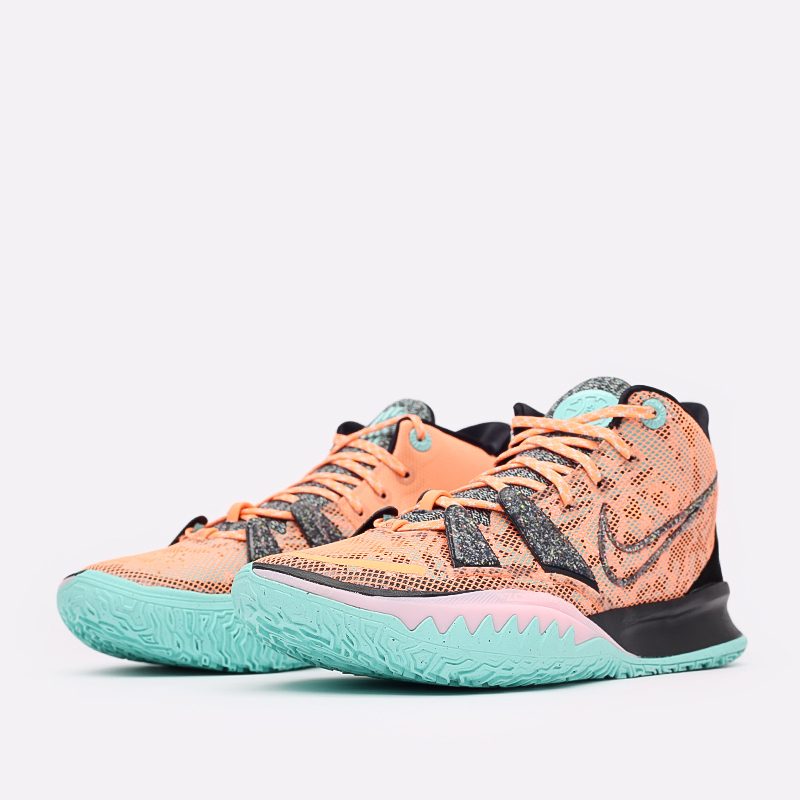 оранжевые  кроссовки nike kyrie 7 DD1447-800 - цена, описание, фото 2