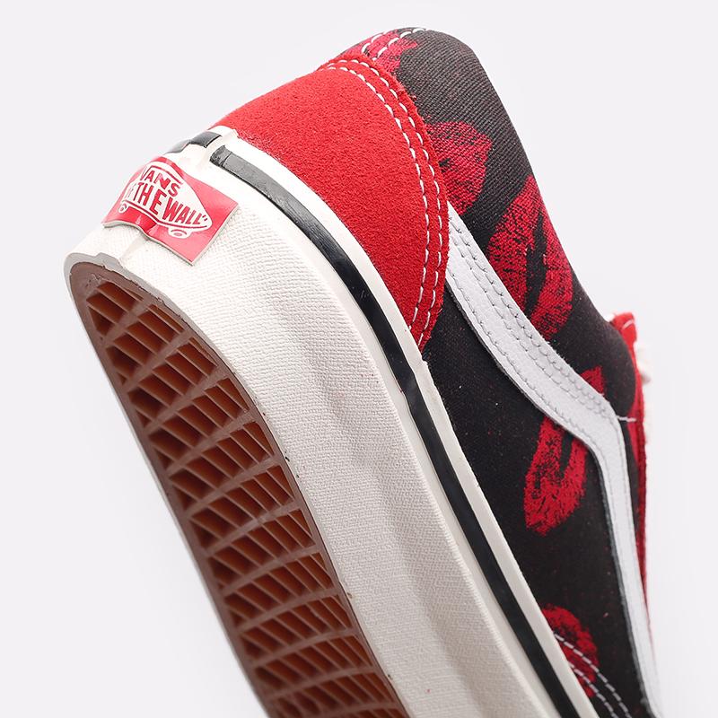 красные  кроссовки vans old skool 36 dx VA54F34SPM - цена, описание, фото 5