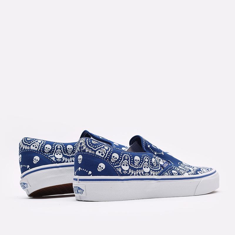 мужские синие  кроссовки vans bandana classic slip-on VA33TB42UM - цена, описание, фото 3