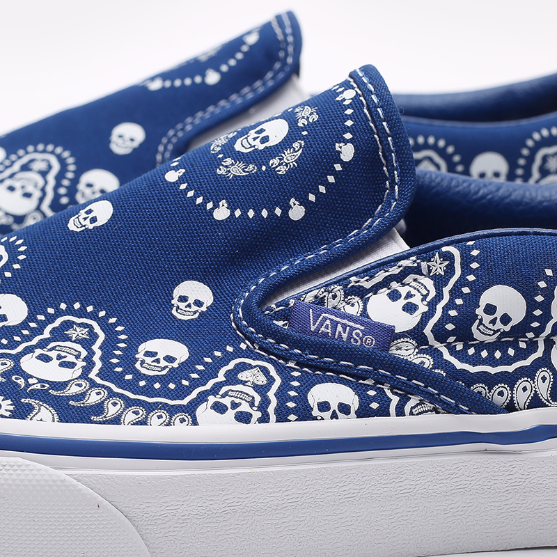 мужские синие  кроссовки vans bandana classic slip-on VA33TB42UM - цена, описание, фото 4