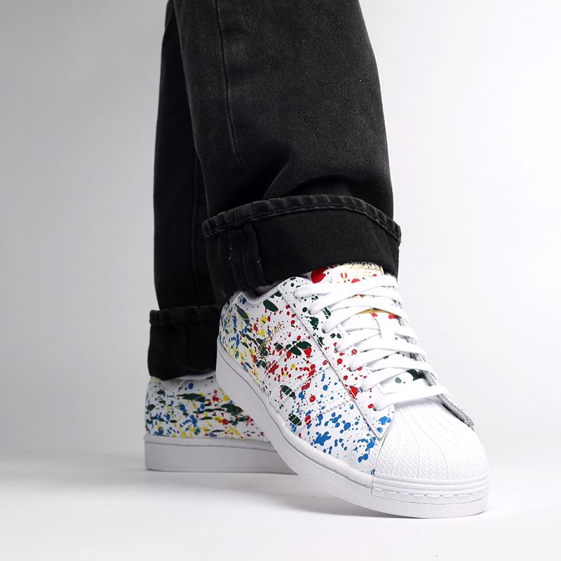 мужские белые  кроссовки adidas superstar FX5537 - цена, описание, фото 9