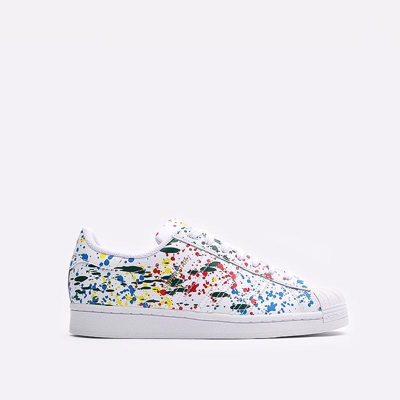 мужские белые  кроссовки adidas superstar FX5537 - цена, описание, фото 1