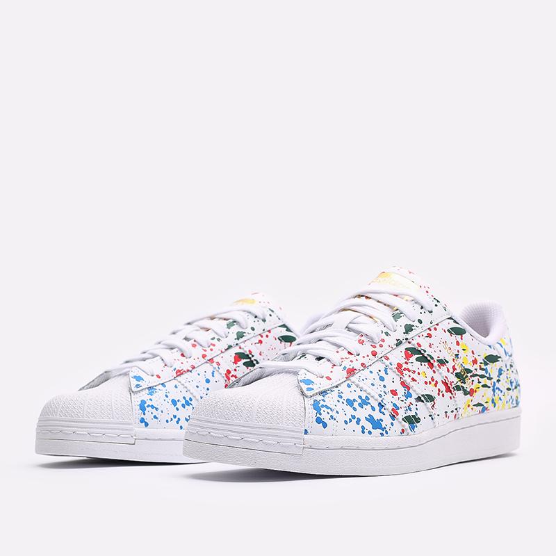 мужские белые  кроссовки adidas superstar FX5537 - цена, описание, фото 2
