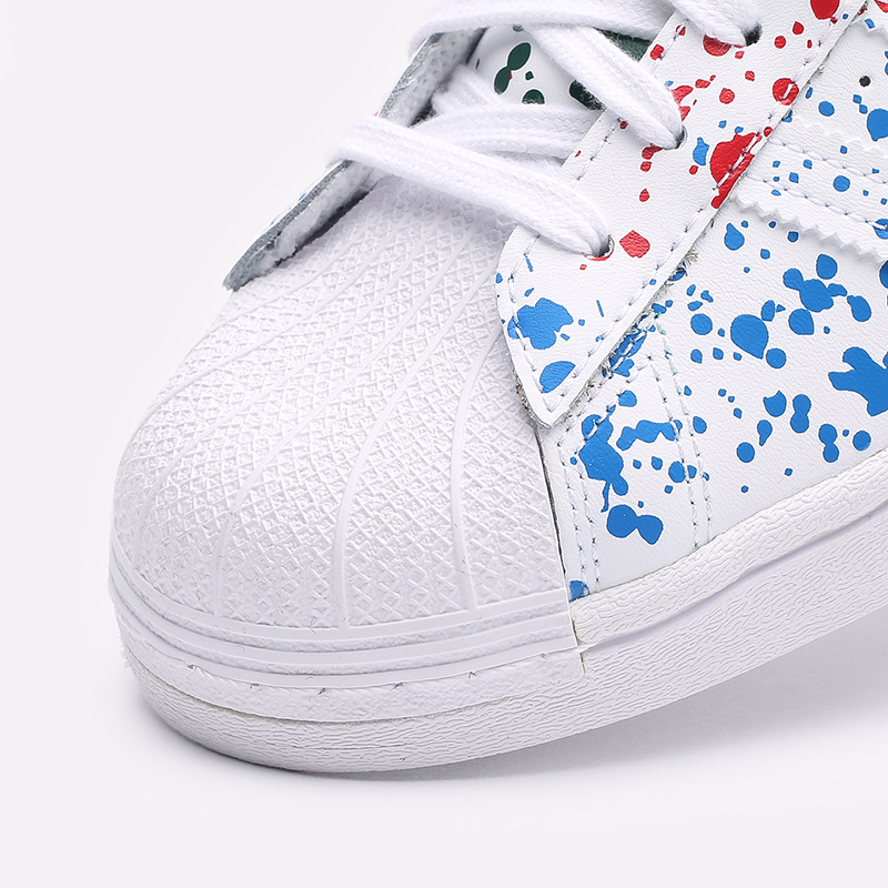мужские белые  кроссовки adidas superstar FX5537 - цена, описание, фото 6