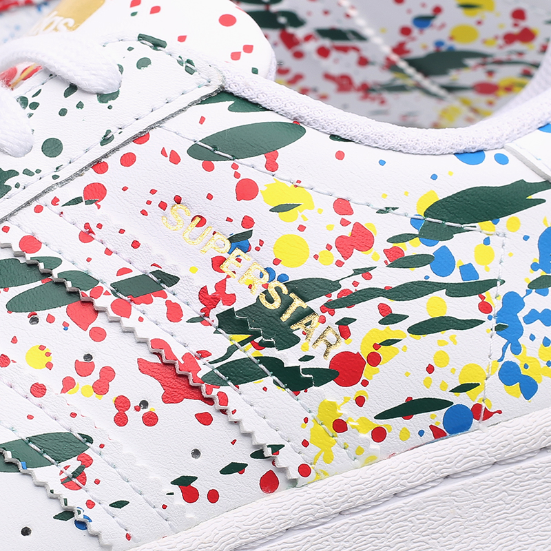мужские белые  кроссовки adidas superstar FX5537 - цена, описание, фото 7