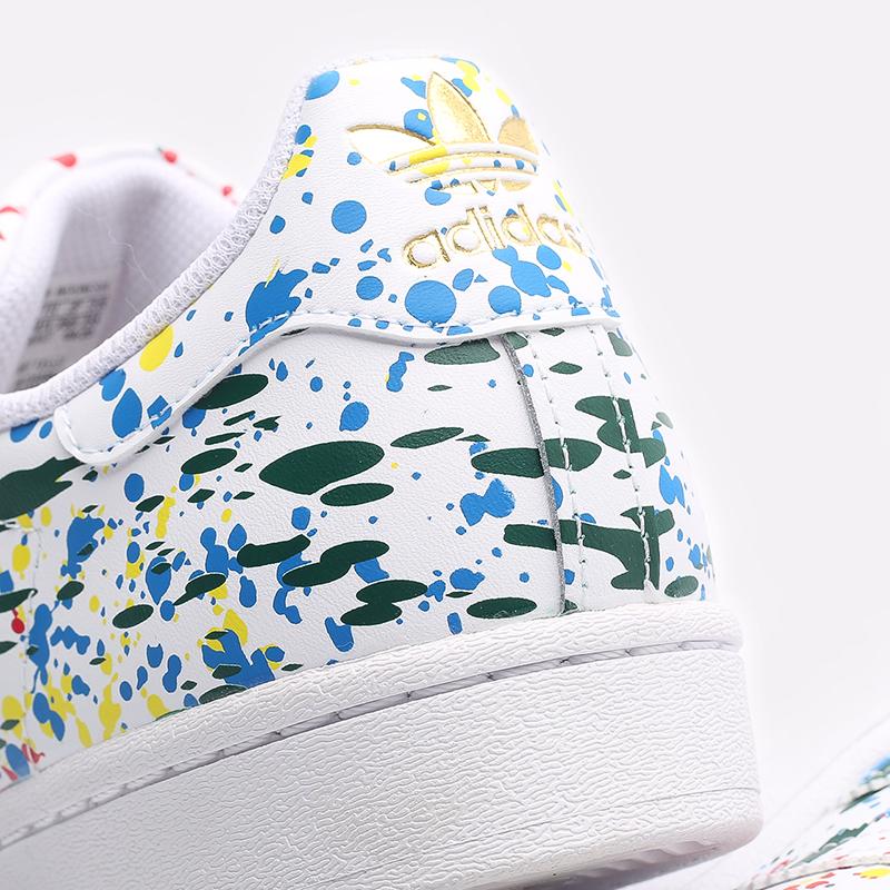 мужские белые  кроссовки adidas superstar FX5537 - цена, описание, фото 5