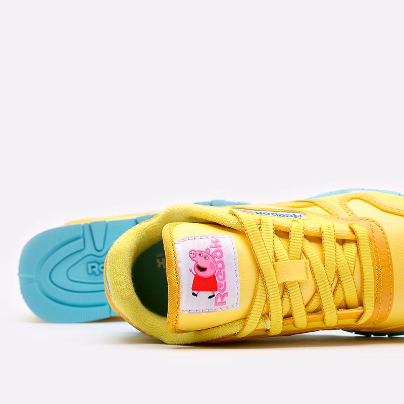 детские жёлтые  кроссовки reebok classic leather x peppa pig H05207 - цена, описание, фото 6