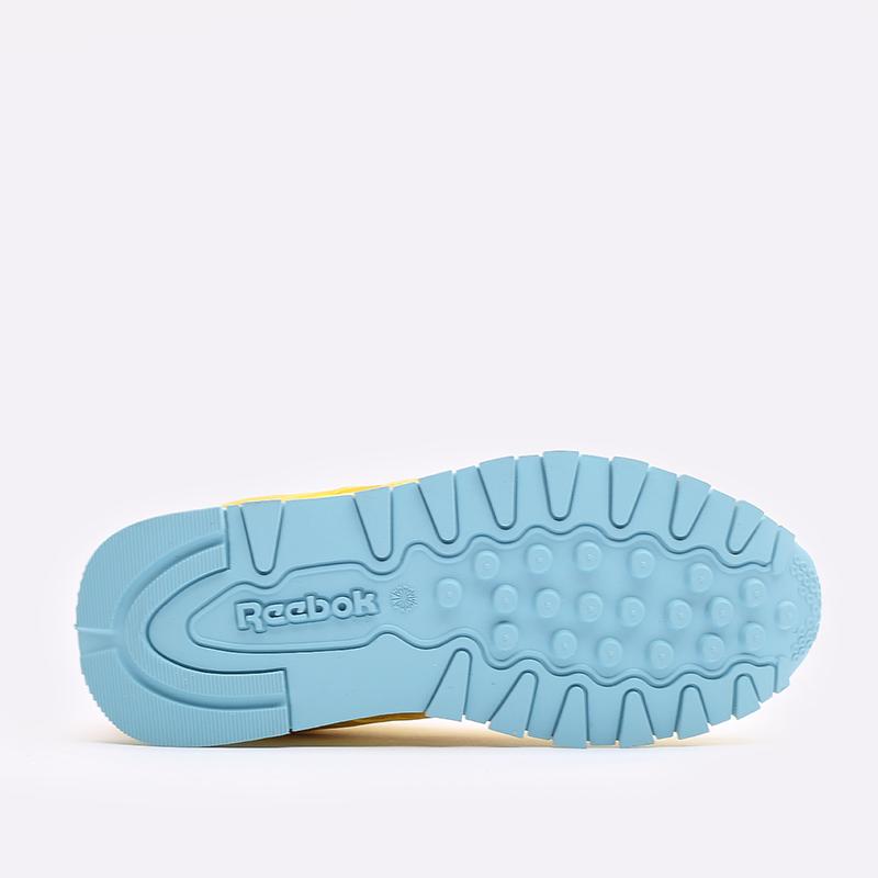 детские жёлтые  кроссовки reebok classic leather x peppa pig H05207 - цена, описание, фото 3