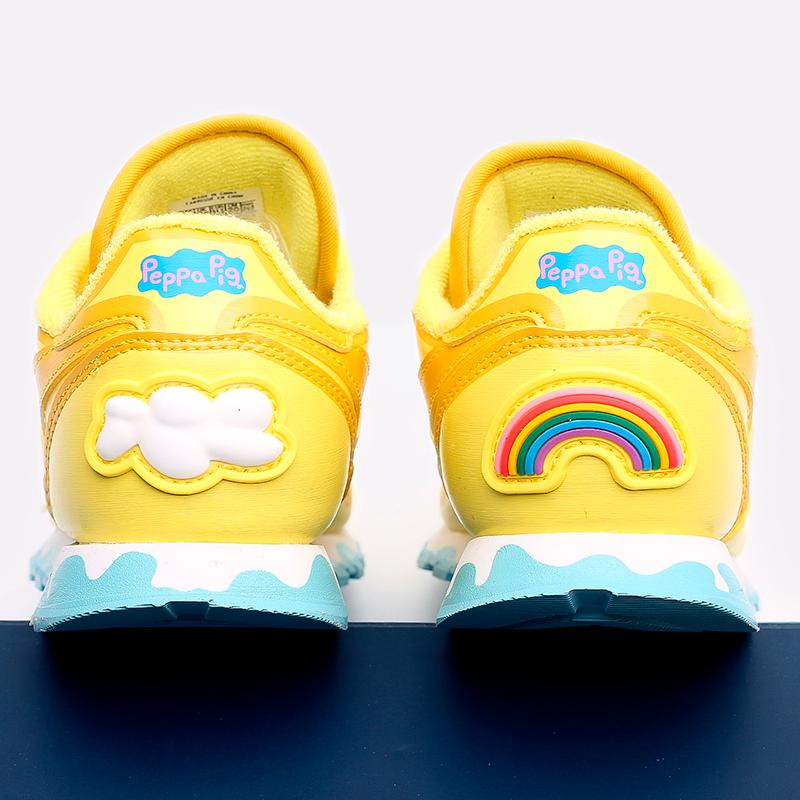детские жёлтые  кроссовки reebok classic leather x peppa pig H05207 - цена, описание, фото 5