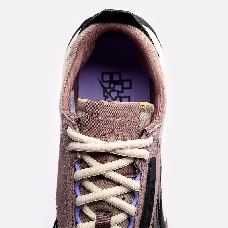 мужские бежевые  кроссовки reebok cl legacy x asap nast H01280 - цена, описание, фото 8