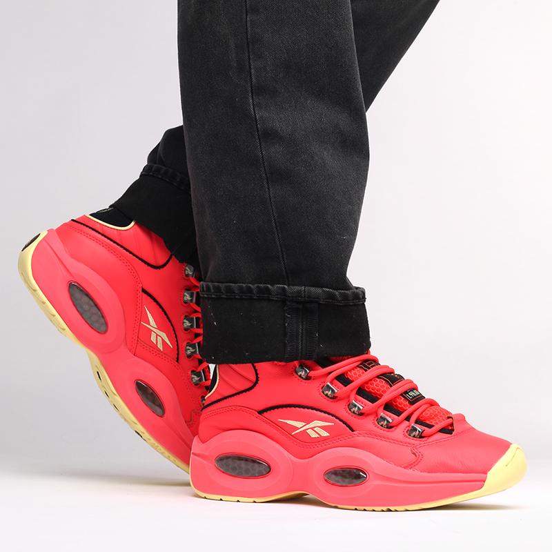 мужские красные  кроссовки reebok question mid x hot ones GV7093 - цена, описание, фото 7