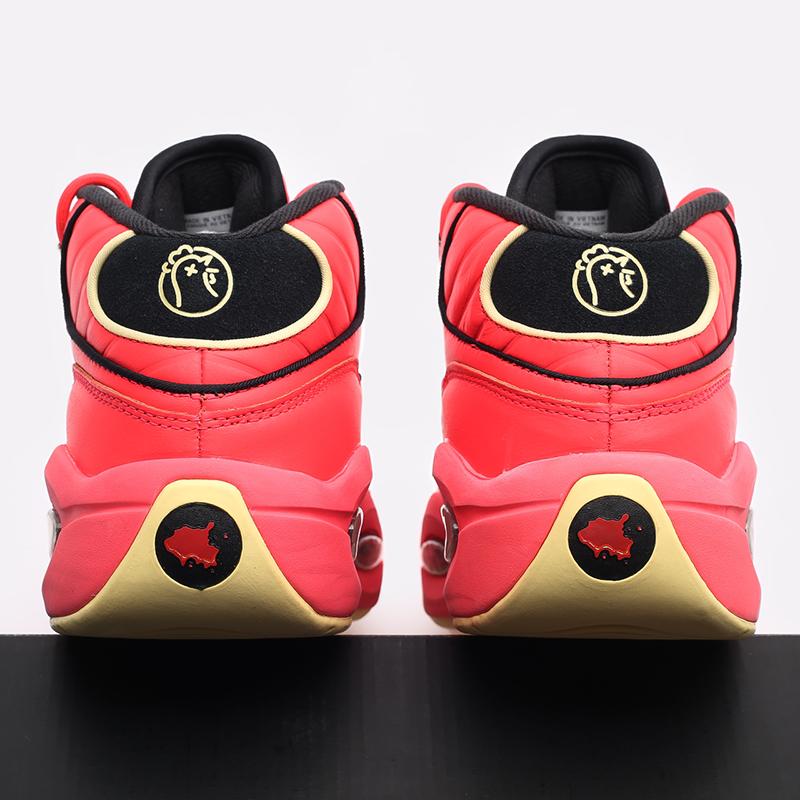 мужские красные  кроссовки reebok question mid x hot ones GV7093 - цена, описание, фото 6