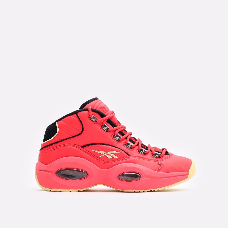 мужские красные  кроссовки reebok question mid x hot ones GV7093 - цена, описание, фото 1