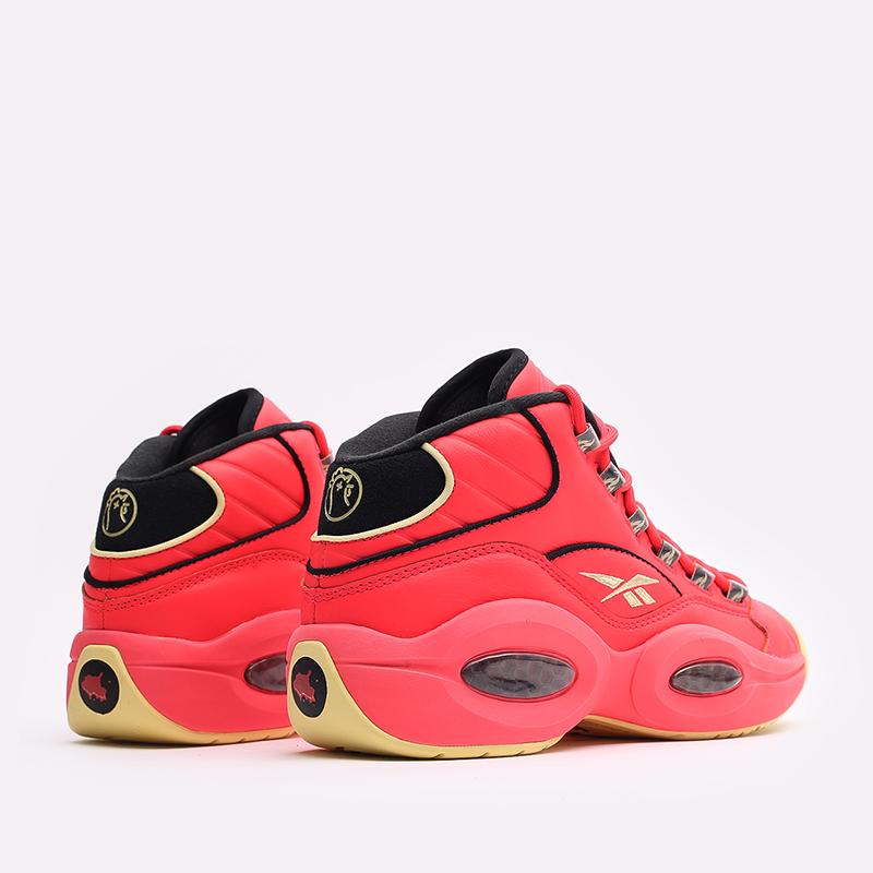 мужские красные  кроссовки reebok question mid x hot ones GV7093 - цена, описание, фото 3