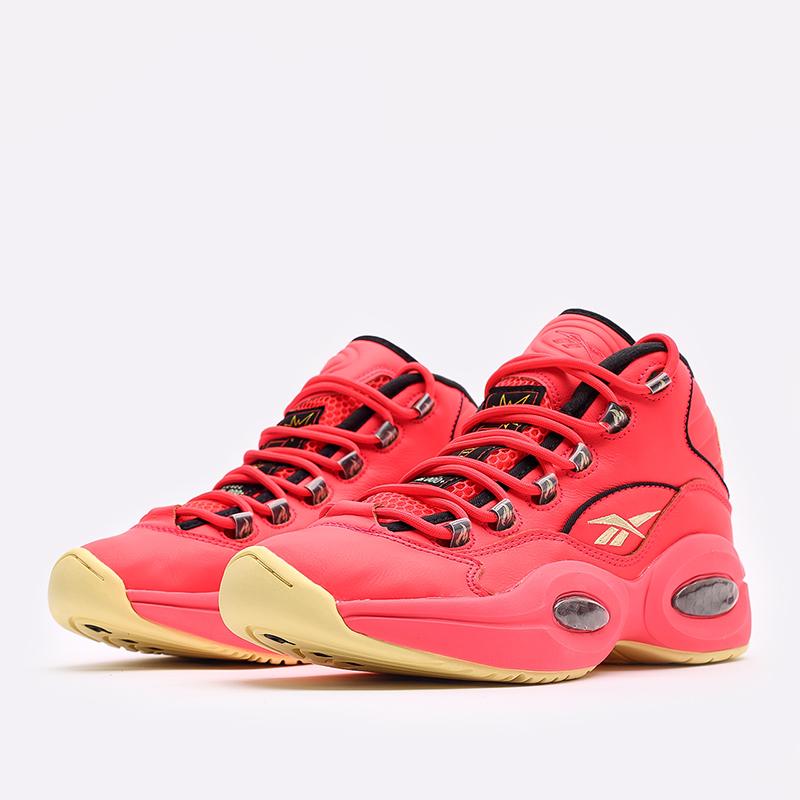 мужские красные  кроссовки reebok question mid x hot ones GV7093 - цена, описание, фото 2