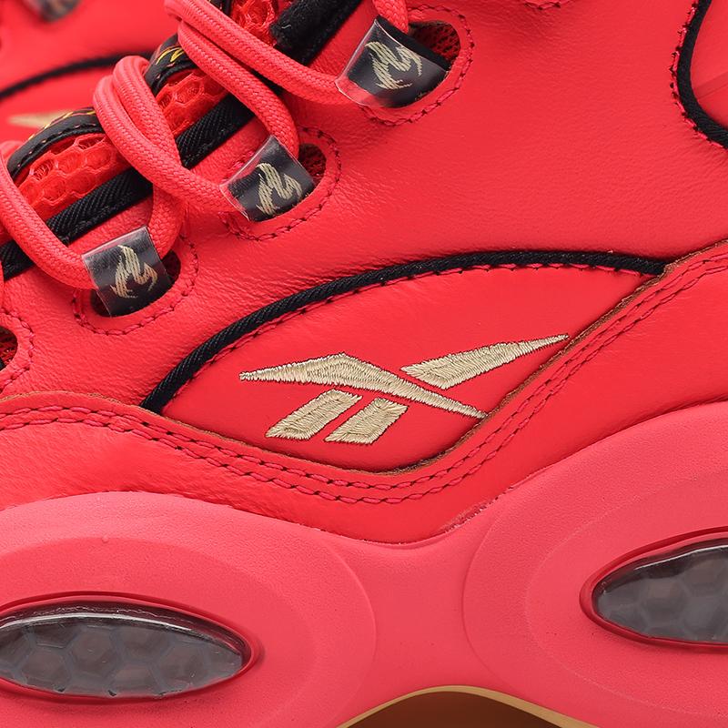 мужские красные  кроссовки reebok question mid x hot ones GV7093 - цена, описание, фото 5