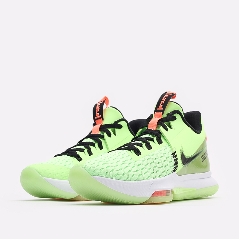 мужские зелёные  кроссовки nike lebron witness v CQ9380-300 - цена, описание, фото 2