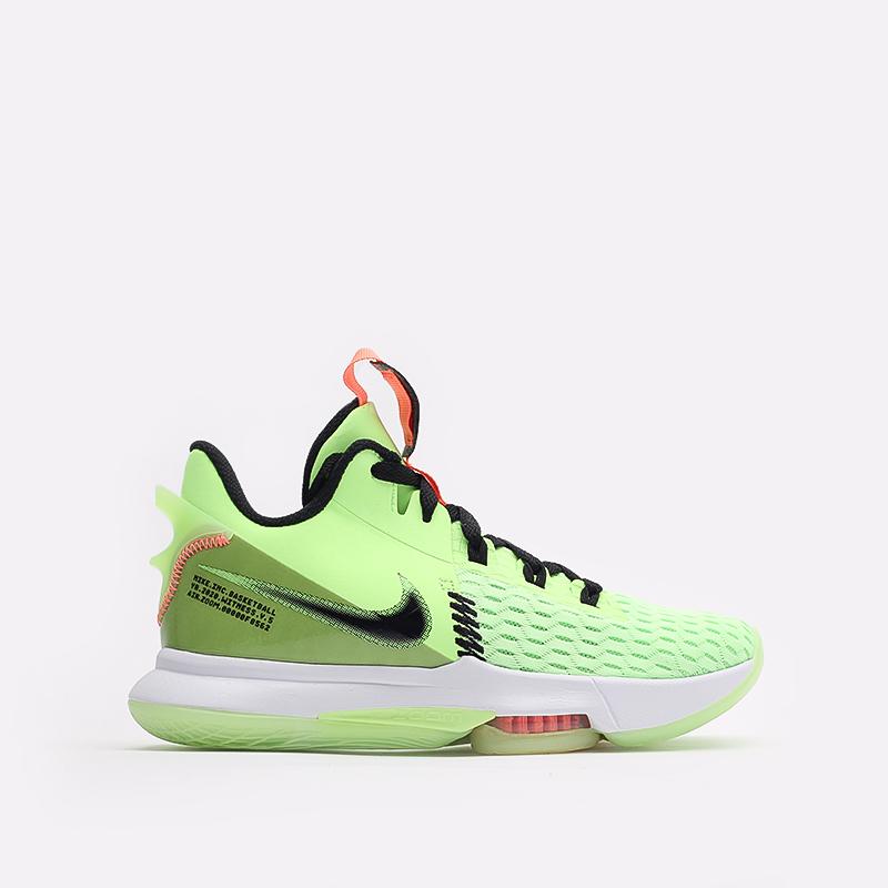 мужские зелёные  кроссовки nike lebron witness v CQ9380-300 - цена, описание, фото 1