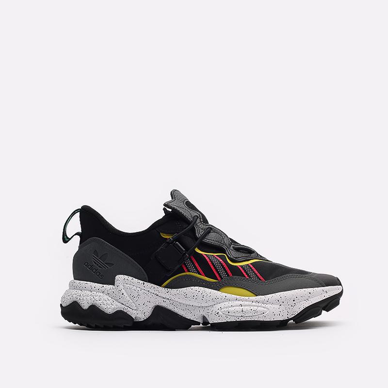 мужские черные  кроссовки adidas ozweego flipshield FY5776 - цена, описание, фото 1