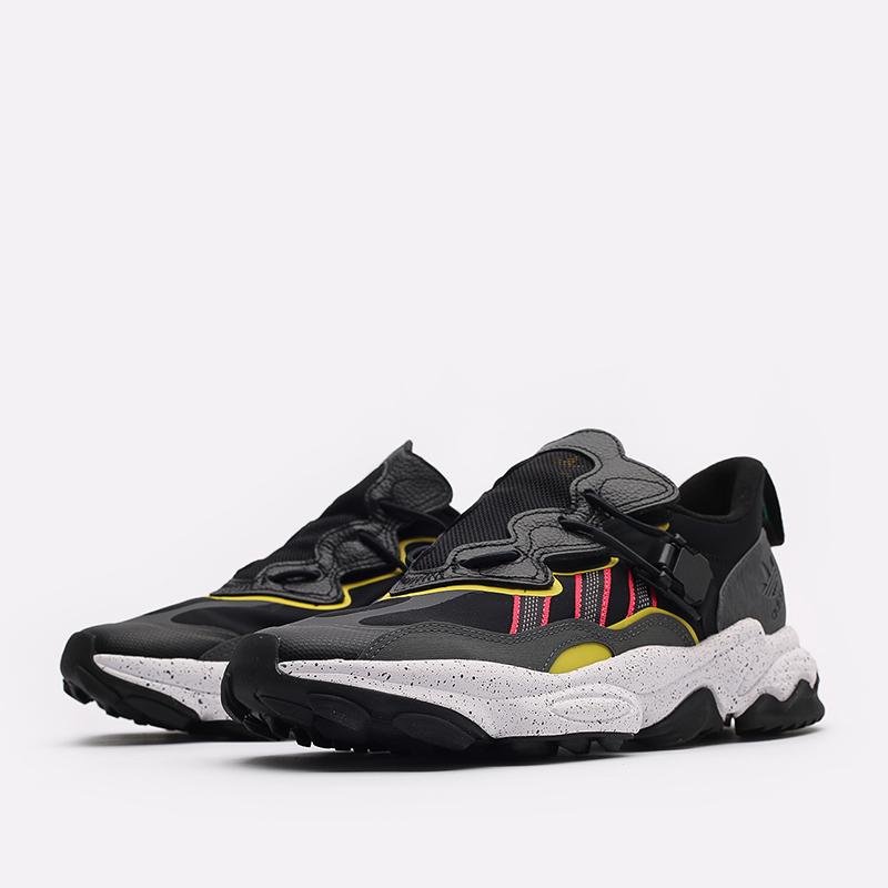 мужские черные  кроссовки adidas ozweego flipshield FY5776 - цена, описание, фото 2