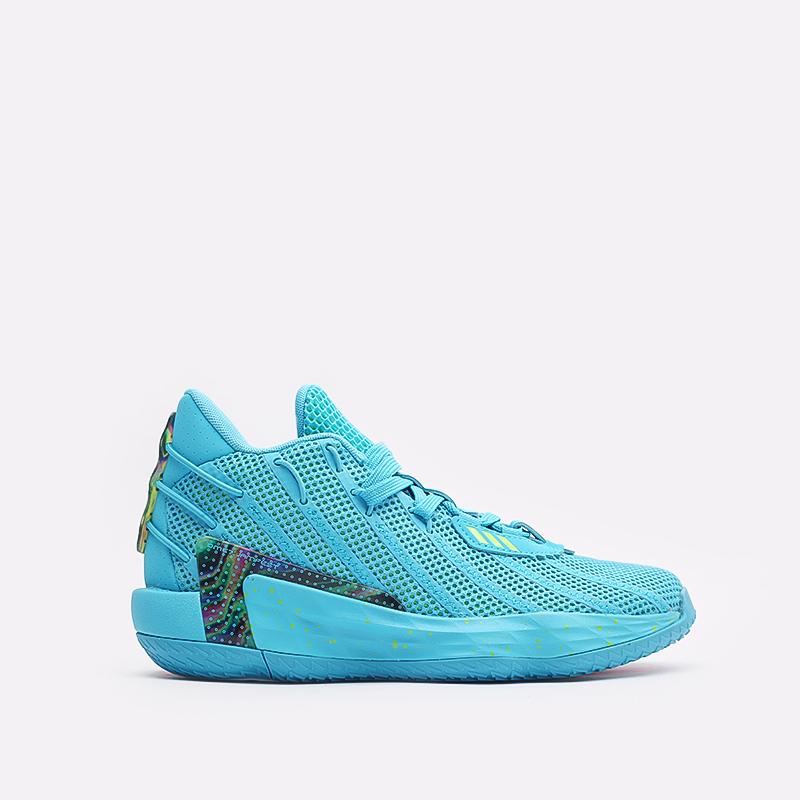 голубые  кроссовки adidas dame 7 FZ1050 - цена, описание, фото 1