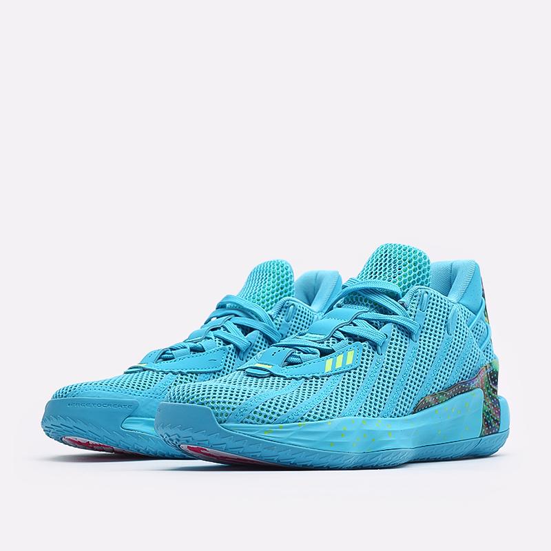 голубые  кроссовки adidas dame 7 FZ1050 - цена, описание, фото 2
