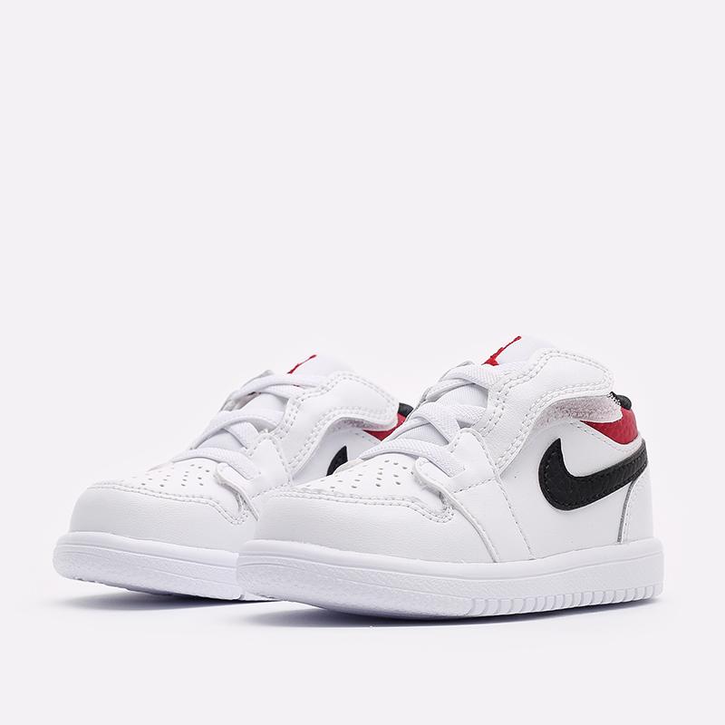 детские белые  кроссовки jordan 1 low alt (td) CI3436-118 - цена, описание, фото 2