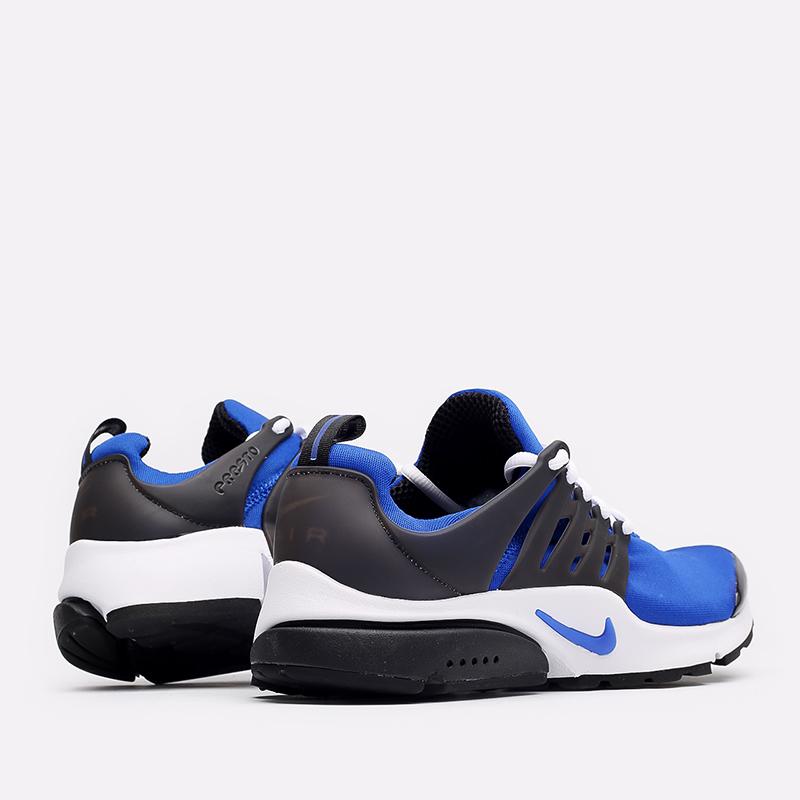 мужские синие, чёрные, белые  кроссовки nike air presto CT3550-400 - цена, описание, фото 3
