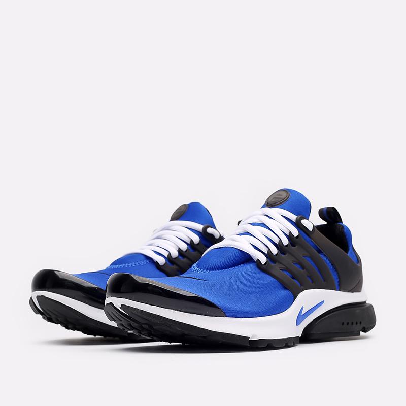мужские синие, чёрные, белые  кроссовки nike air presto CT3550-400 - цена, описание, фото 2