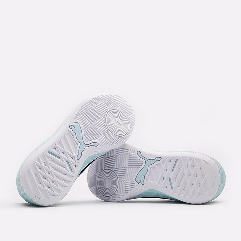 мужские чёрные, белые  кроссовки puma clyde all-pro 19403907 - цена, описание, фото 4