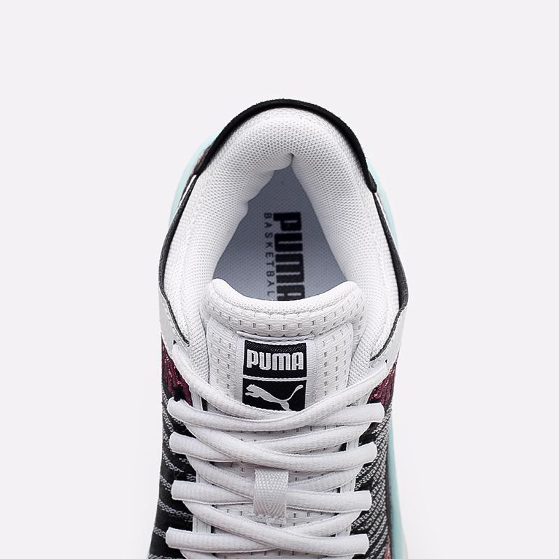 мужские чёрные, белые  кроссовки puma clyde all-pro 19403907 - цена, описание, фото 7