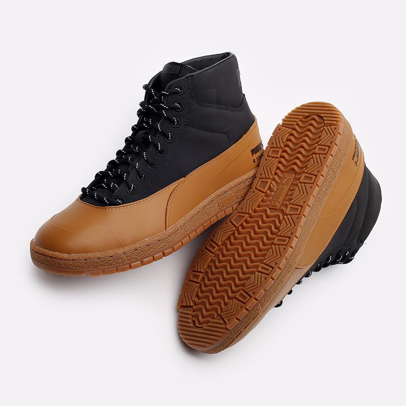 мужские чёрные, коричневые  кроссовки puma ralph samspon 70 x kitsune 38029101 - цена, описание, фото 4
