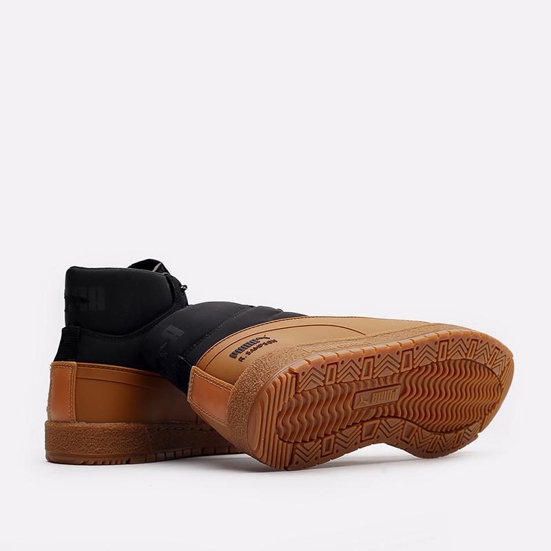 мужские чёрные, коричневые  кроссовки puma ralph samspon 70 x kitsune 38029101 - цена, описание, фото 3