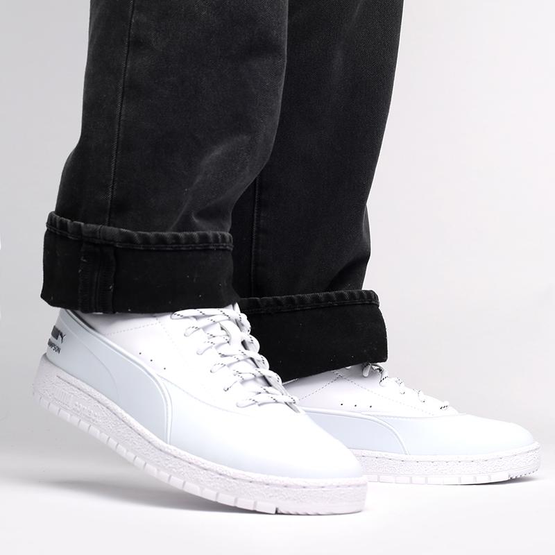 мужские белые  кроссовки puma ralph samspon 70 x kitsune 37564701 - цена, описание, фото 8