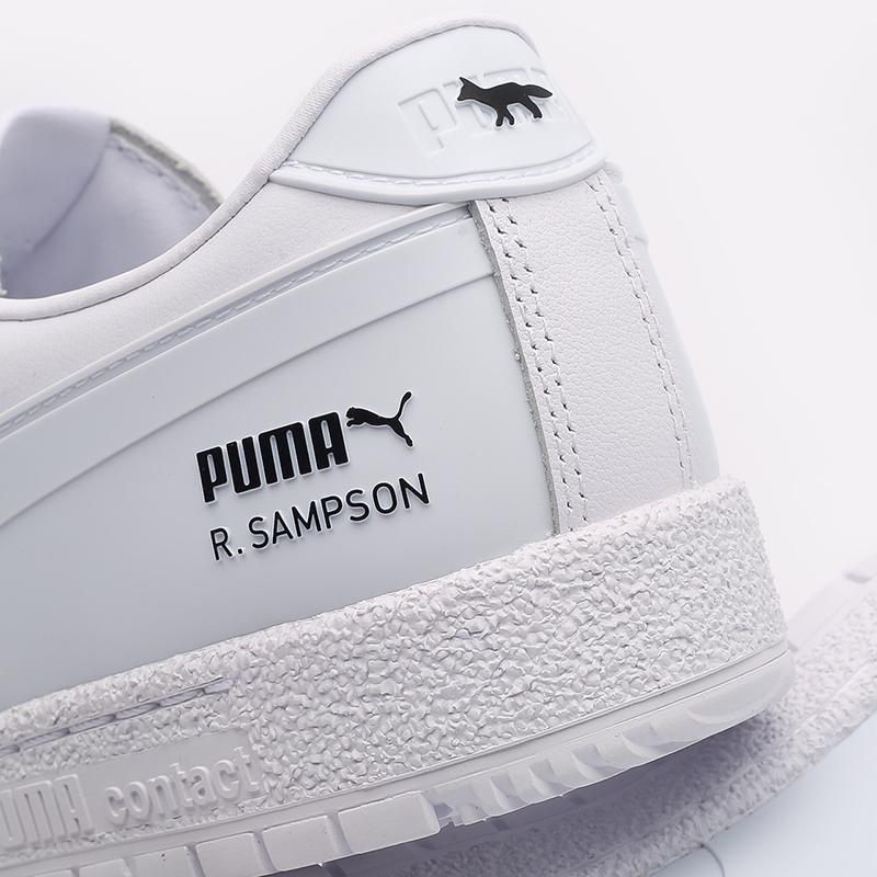мужские белые  кроссовки puma ralph samspon 70 x kitsune 37564701 - цена, описание, фото 5