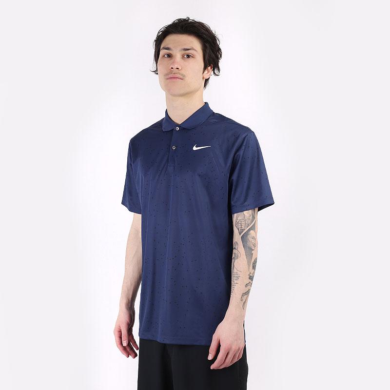 мужской синий  поло nike dri-fit victory golf polo CU9841-410 - цена, описание, фото 1