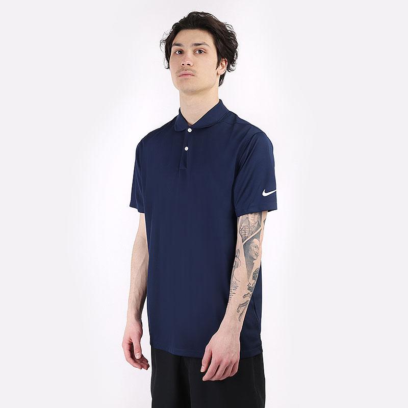 мужской синий  поло nike dri-fit victory golf polo BV0356-419 - цена, описание, фото 1