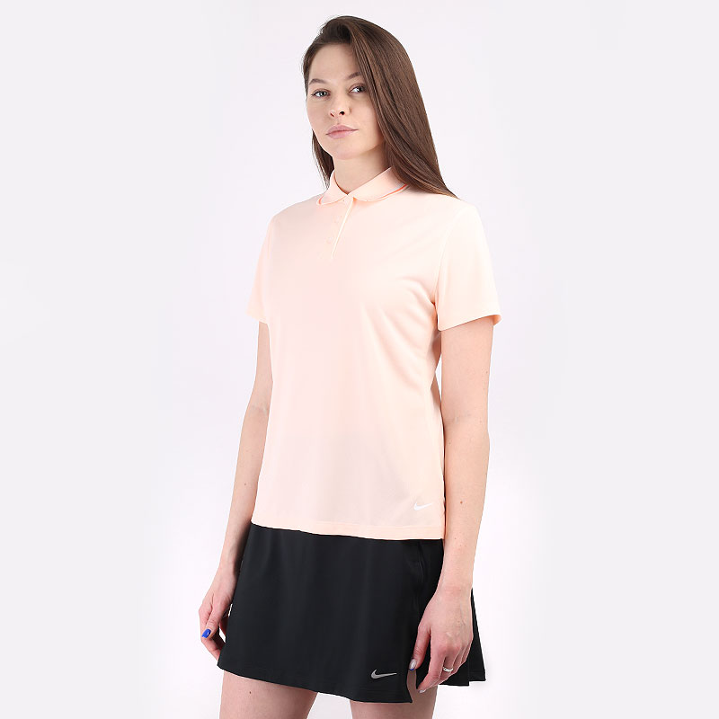 женский оранжевый  поло nike dri-fit victory women's golf polo BV0217-815 - цена, описание, фото 1