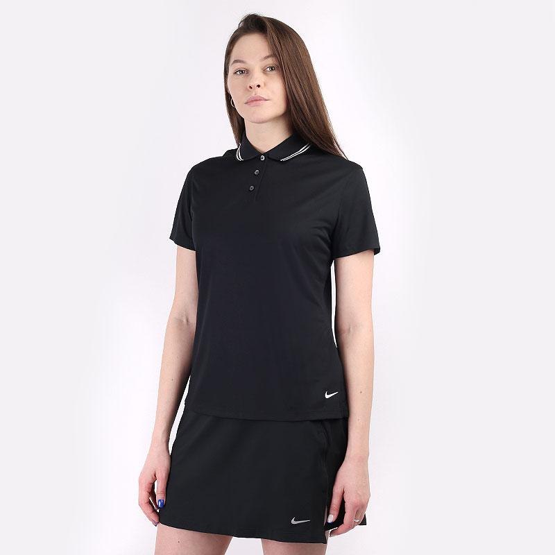 женский черный  поло nike dri-fit victory women's golf polo BV0217-010 - цена, описание, фото 1