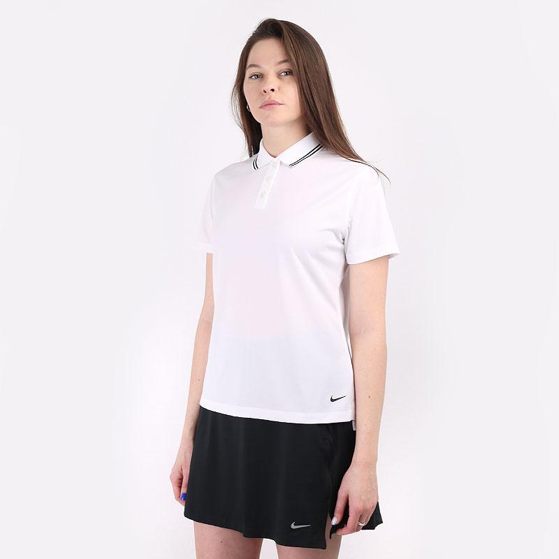 женский белый  поло nike dri-fit victory women's golf polo BV0217-100 - цена, описание, фото 1