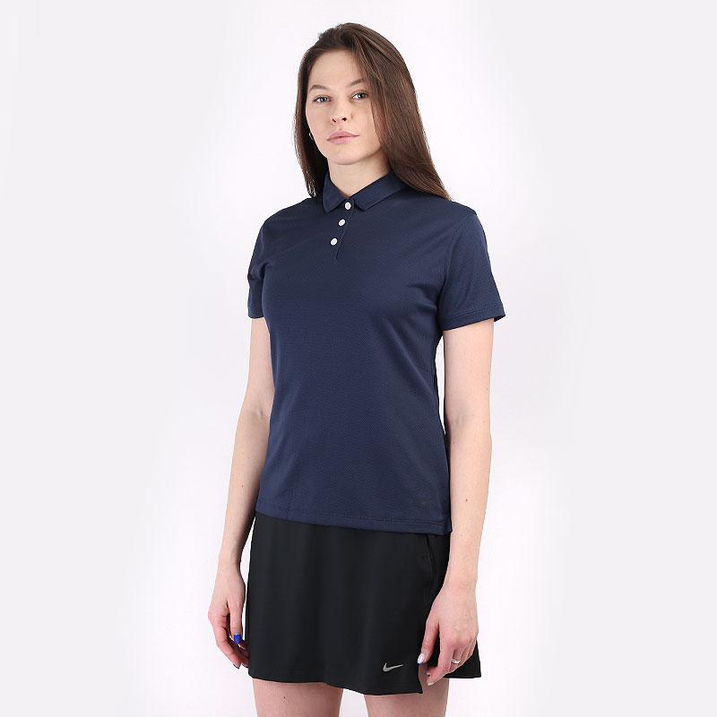 женский синий  поло nike dri-fit victory women's golf polo CU9679-451 - цена, описание, фото 1