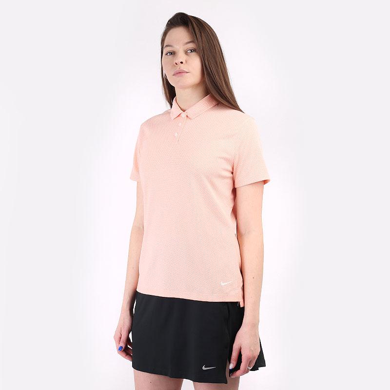 женский оранжевый  поло nike dri-fit victory women's golf polo CU9679-814 - цена, описание, фото 1