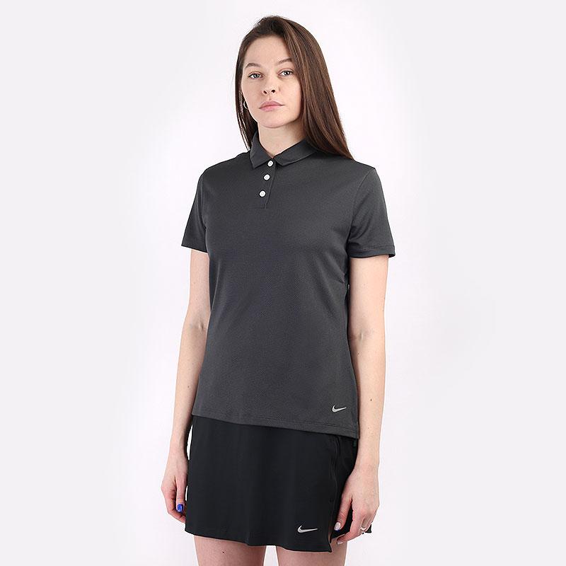 женский серый  поло nike dri-fit victory women's golf polo CU9679-070 - цена, описание, фото 1