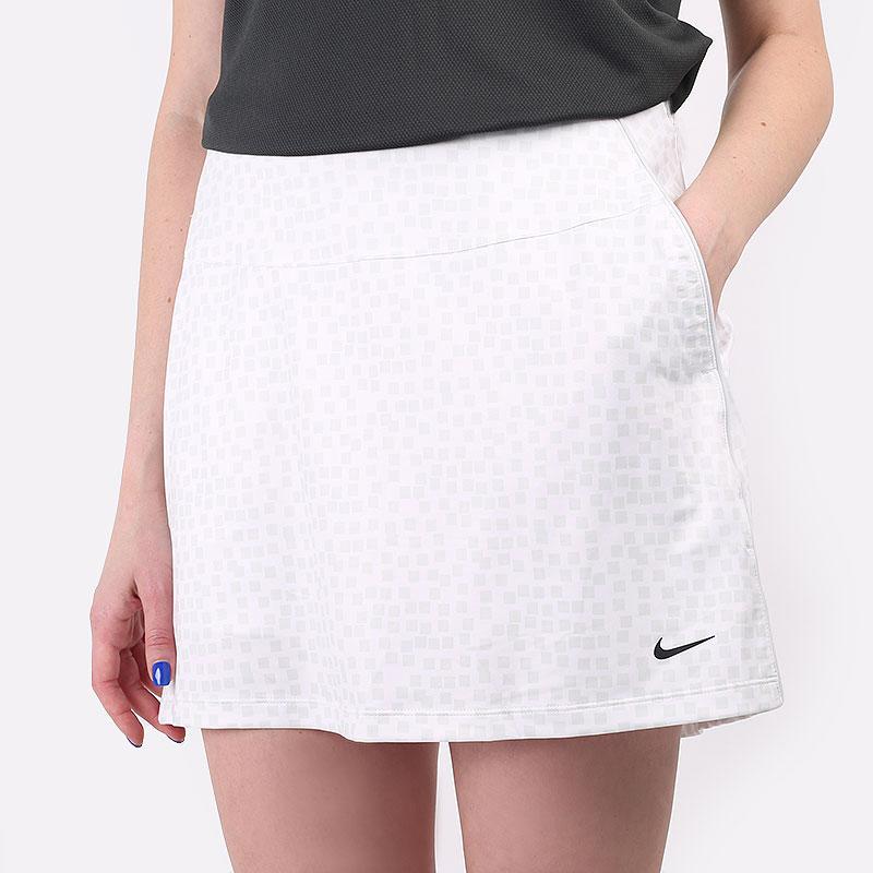 женскую белую  юбка nike dri-fit uv women's golf skirt CU9364-100 - цена, описание, фото 1