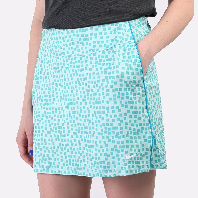 женскую голубую  юбка nike dri-fit uv women's golf skirt CU9364-382 - цена, описание, фото 1