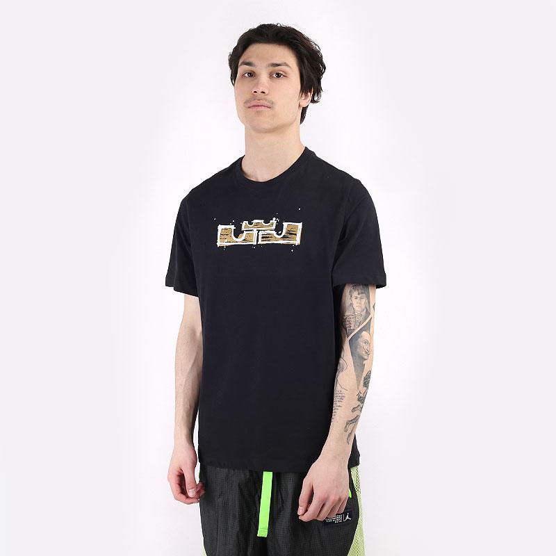 мужскую черную  футболка nike dri-fit lebron logo basketball t-shirt. DD0783-011 - цена, описание, фото 1