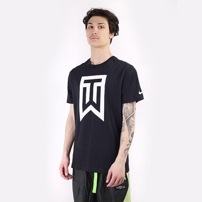 мужскую черную  футболка nike tiger woods logo golf t-shirt DC0088-010 - цена, описание, фото 1