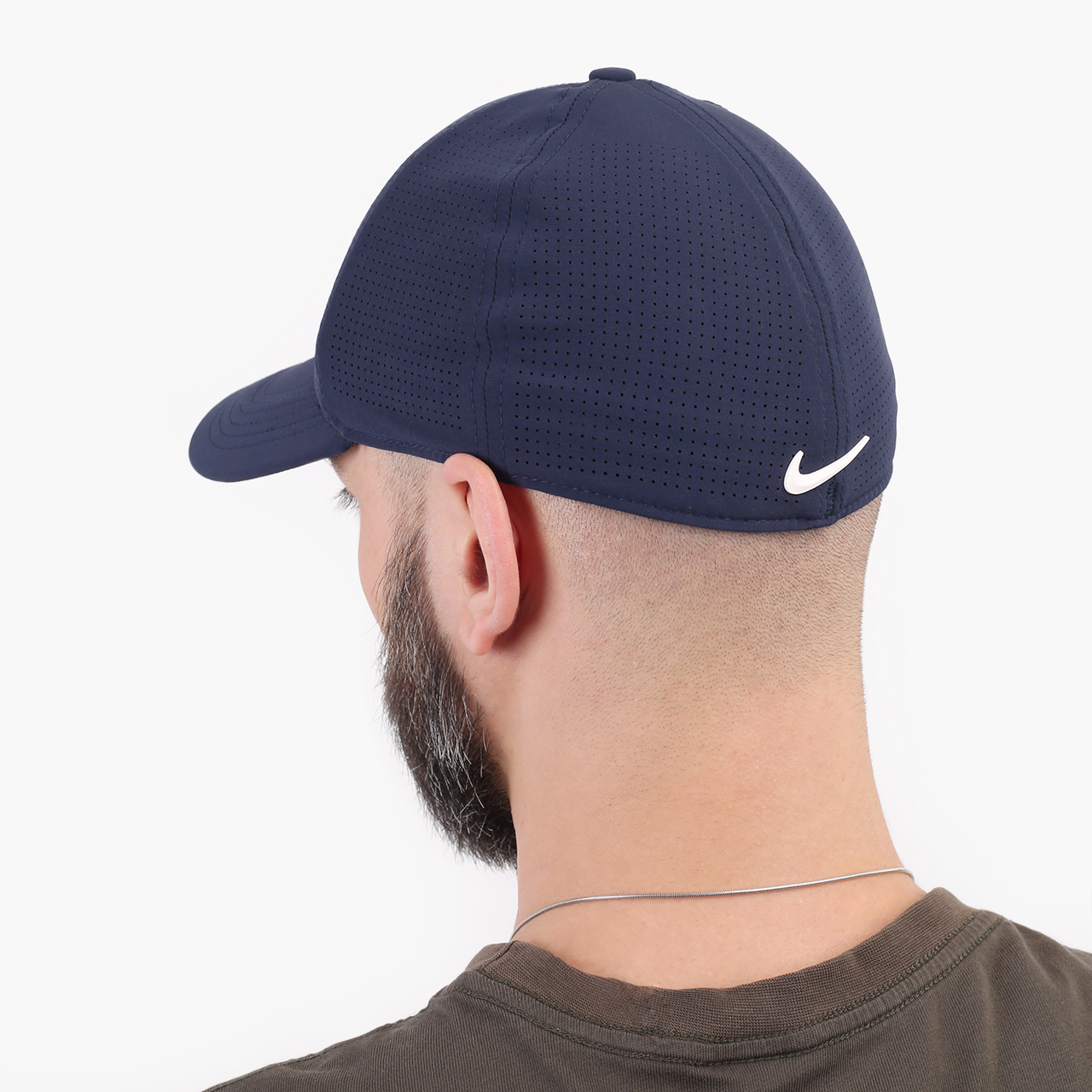 синюю  кепка nike aerobill tiger woods heritage86 perforated cap CW6792-451 - цена, описание, фото 2