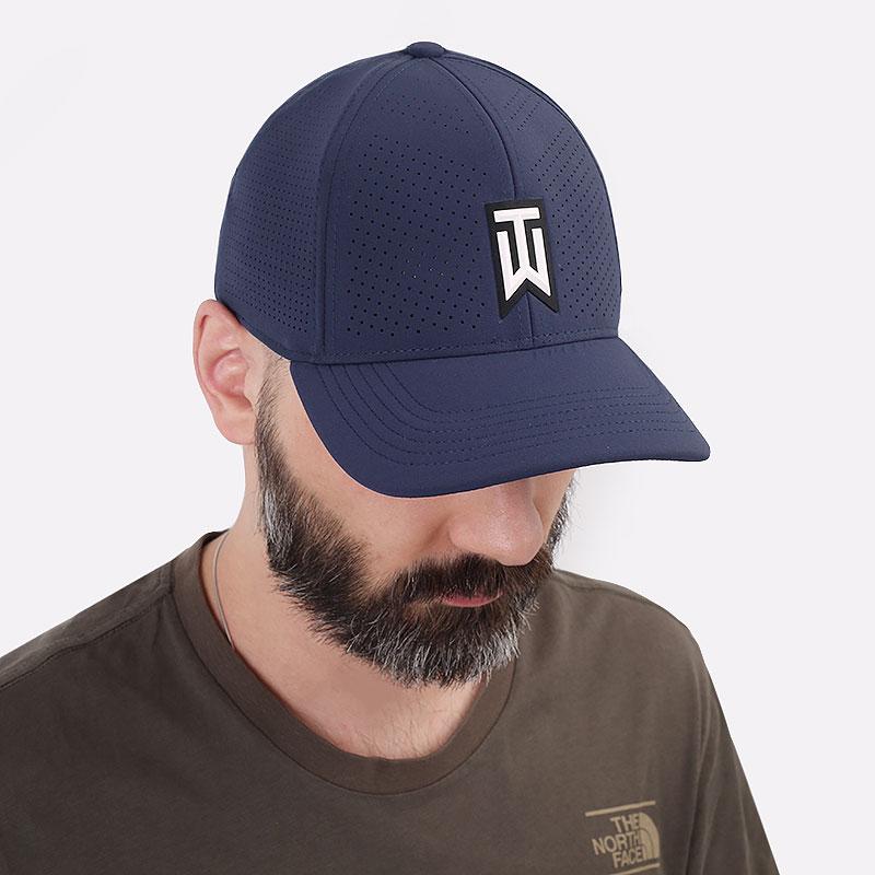 синюю  кепка nike aerobill tiger woods heritage86 perforated cap CW6792-451 - цена, описание, фото 1