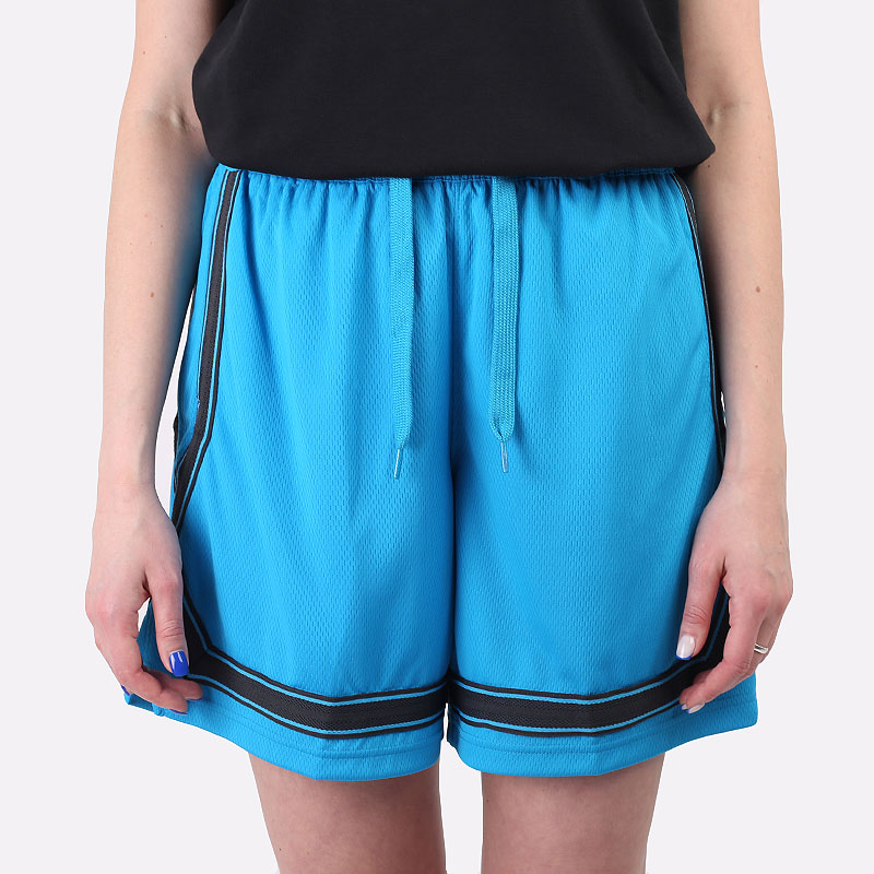 женские голубые  шорты  nike dri-fit swoosh fly women's basketball shorts CK6599-446 - цена, описание, фото 4